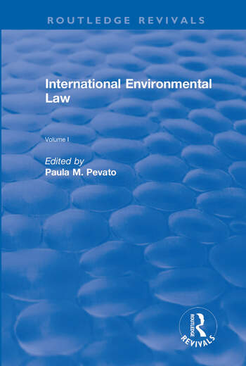 International Environmental Law, Volumes I and II book cover