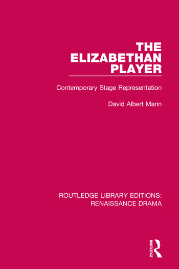Routledge Library Editions: Renaissance Drama book cover