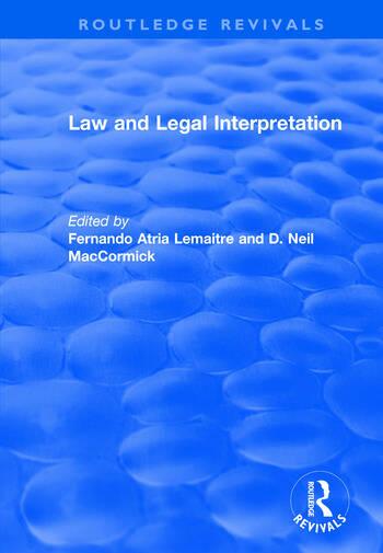 Law and Legal Interpretation book cover