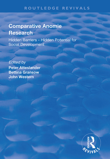 Comparative Anomie Research Hidden Barriers - Hidden Potential for Social Development book cover