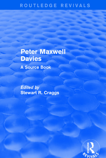Peter Maxwell Davies A Source Book book cover