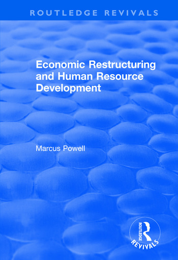 Economic Restructuring and Human Resource Development book cover
