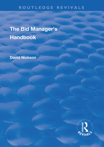 The Bid Manager's Handbook book cover