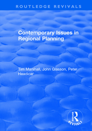 Contemporary Issues in Regional Planning book cover