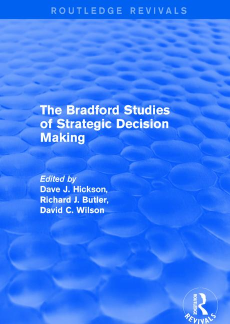Revival: The Bradford Studies of Strategic Decision Making (2001) book cover