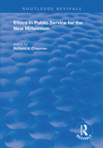 Ethics in Public Service for the New Millennium book cover
