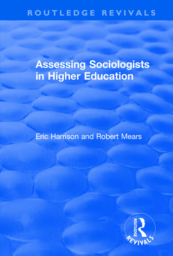 Assessing Sociologists in Higher Education book cover
