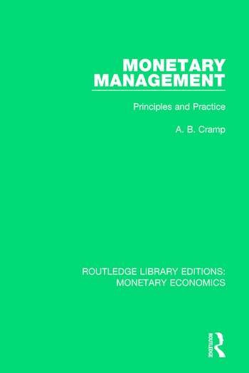 Monetary Management Principles and Practice book cover