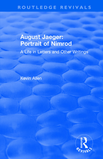 August Jaeger: Portrait of Nimrod: A Life in Letters and Other Writings Portrait of Nimrod: A Life in Letters and Other Writings book cover