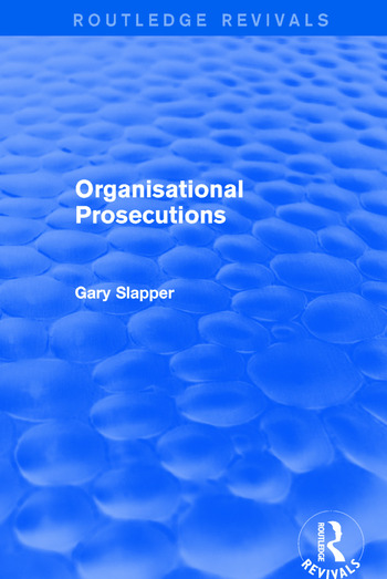 Organisational Prosecutions book cover