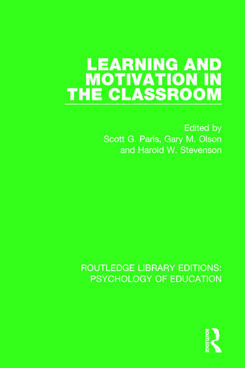 Learning and Motivation in the Classroom book cover