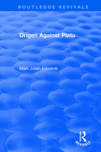 Origen Against Plato book cover