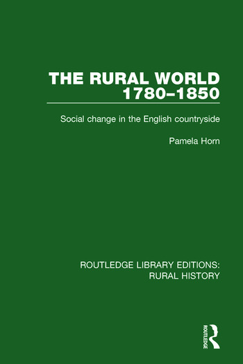 The Rural World 1780-1850 Social Change in the English Countryside book cover