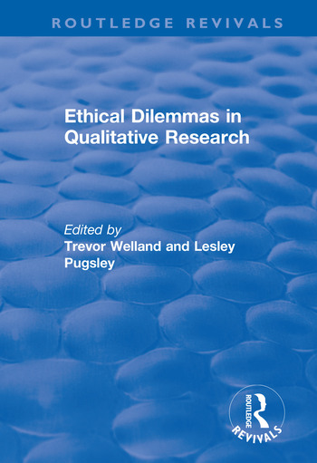 Ethical Dilemmas in Qualitative Research book cover