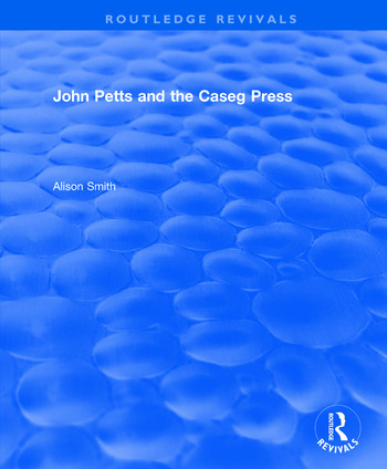 John Petts and the Caseg Press book cover