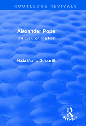 Alexander Pope The Evolution of a Poet book cover