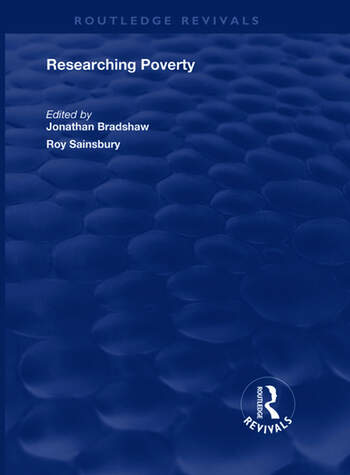 Researching Poverty book cover