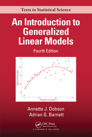An Introduction to Generalized Linear Models book cover