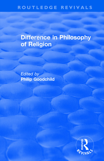 Difference in Philosophy of Religion book cover