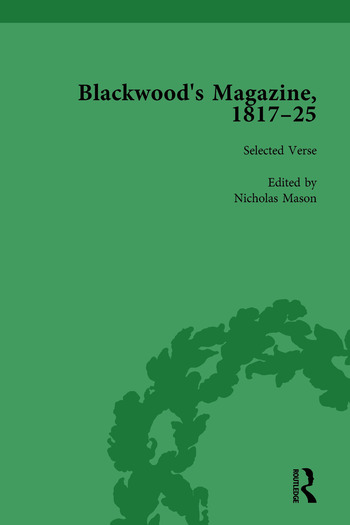 Blackwood's Magazine, 1817-25, Volume 1 Selections from Maga's Infancy book cover