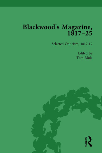 Blackwood's Magazine, 1817-25, Volume 5 Selections from Maga's Infancy book cover
