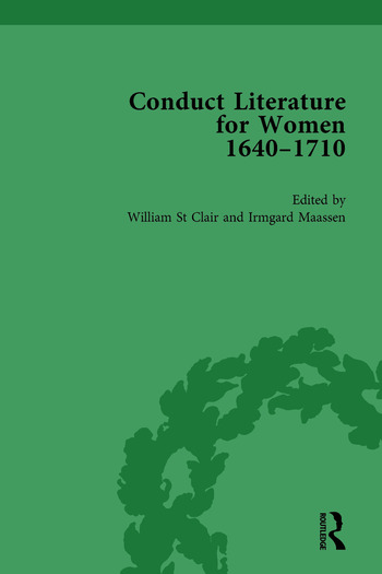 Conduct Literature for Women, Part II, 1640-1710 vol 3 book cover