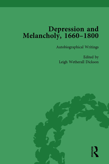 Depression and Melancholy, 1660–1800 vol 3 book cover