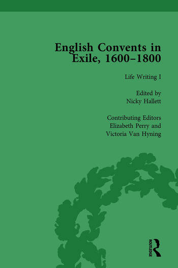 English Convents in Exile, 1600–1800, Part I, vol 3 book cover