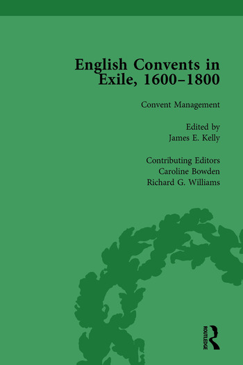 English Convents in Exile, 1600–1800, Part II, vol 5 book cover