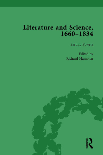 Literature and Science, 1660-1834, Part I. Volume 3 book cover