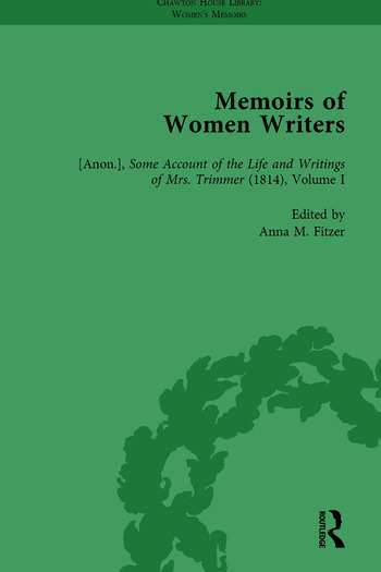 Memoirs of Women Writers, Part I, Volume 3 book cover