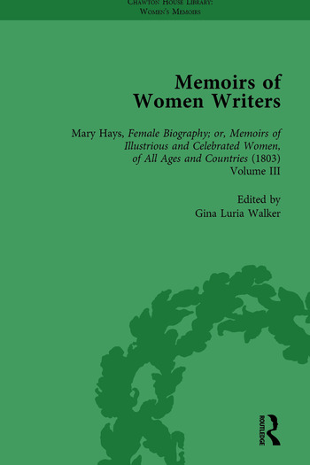 Memoirs of Women Writers, Part II, Volume 7 book cover