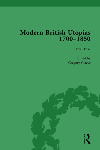 Modern British Utopias, 1700-1850 Vol 1 book cover