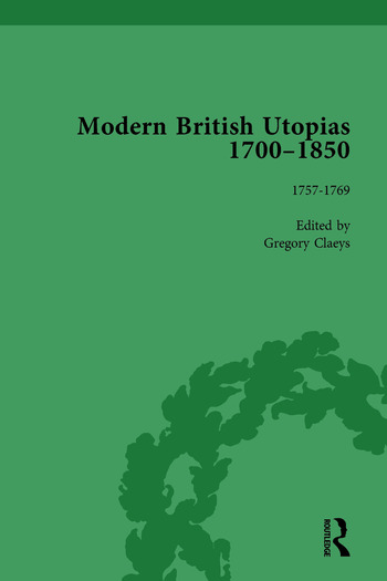Modern British Utopias, 1700-1850 Vol 3 book cover