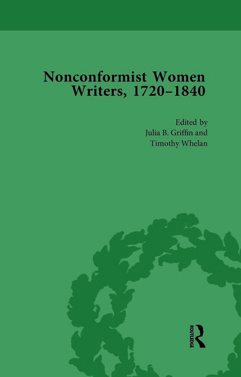 Nonconformist Women Writers, 1720-1840, Part I Vol 2 book cover