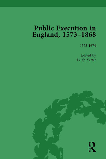 Public Execution in England, 1573–1868, Part I Vol 2 book cover