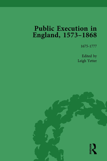 Public Execution in England, 1573–1868, Part I Vol 4 book cover