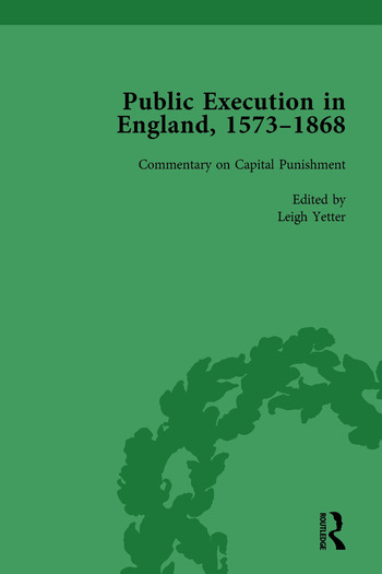 Public Execution in England, 1573–1868, Part II vol 7 book cover