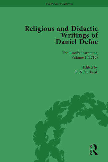 Religious and Didactic Writings of Daniel Defoe, Part I Vol 1 book cover