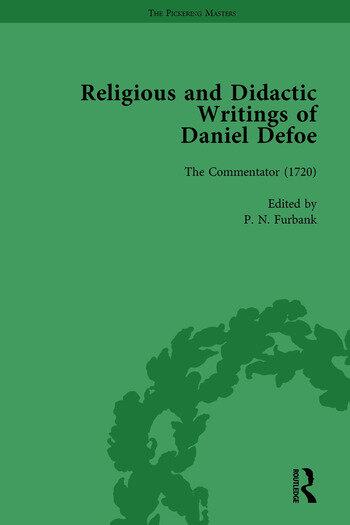 Religious and Didactic Writings of Daniel Defoe, Part II vol 9 book cover