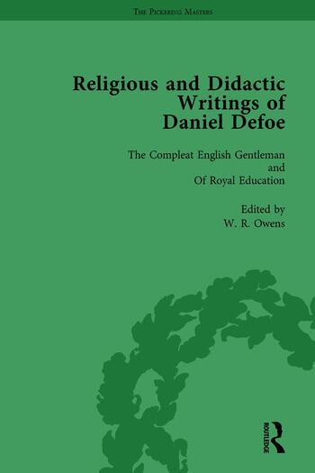 Religious and Didactic Writings of Daniel Defoe, Part II vol 10 book cover