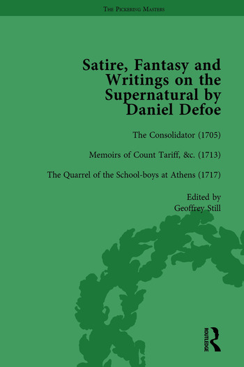 Satire, Fantasy and Writings on the Supernatural by Daniel Defoe, Part I Vol 3 book cover