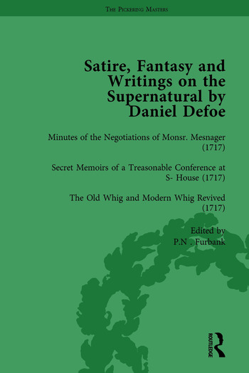 Satire, Fantasy and Writings on the Supernatural by Daniel Defoe, Part I Vol 4 book cover