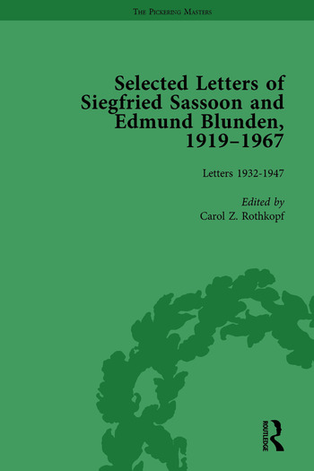 Selected Letters of Siegfried Sassoon and Edmund Blunden, 1919–1967 Vol 2 book cover