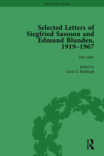 Selected Letters of Siegfried Sassoon and Edmund Blunden, 1919–1967 Vol 3 book cover