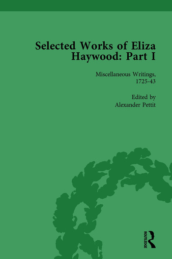 Selected Works of Eliza Haywood, Part I Vol 1 book cover