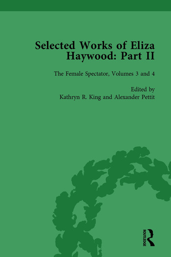 Selected Works of Eliza Haywood, Part II Vol 3 book cover