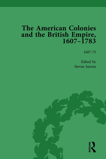 The American Colonies and the British Empire, 1607-1783, Part I Vol 1 book cover