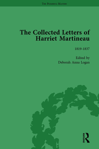The Collected Letters of Harriet Martineau Vol 1 book cover