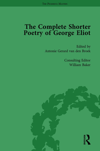 The Complete Shorter Poetry of George Eliot Vol 1 book cover
